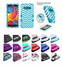For Samsung GALAXY AVANT G386T Hybrid ShockProof Rubber Protective Case Cover