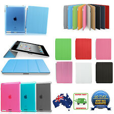 Smart Cover + PC Back Case for Apple iPad Mini 1/2/3, iPad 2/3/4, iPad Air,Air2