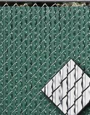 GREEN ULTIMATE WINGED FEATHER PRIVACY SLATS FOR 4' FT CHAIN LINK FENCE SLAT