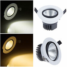 6W 9W 12W 15W Dimmable COB LED Ceiling Recessed Down Light Lamp Lámparas &Driver