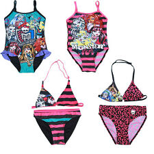 Girls Monster High Swimwear Swimsuit Bikini Swimming Costume SW00115# Age6-12T
