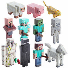 Minecraft Overworld Action Figures Iron Golem Diamond Steve With Accessories