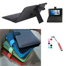 Micro USB Interface PU Leather Keyboard Case for Kindle Fire