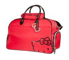 Sanrio Hello Kitty Girls Golf Sports Cute Travel Gym Duffle Bag Pink Red White