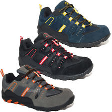 MENS GROUNDWORK SAFETY TRAINERS STEEL TOE CAP LEATHER WORK SHOES LACE UP SIZE