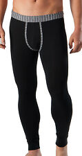 GERONIMO Mens Underwear Warm Pants Cotton Long Johns White Black Striped Waist