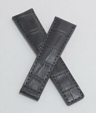 Grey alligator-style watch band for TAG Heuer Grand Carrera with FC5037/9 clasp