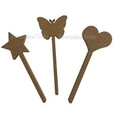 Wooden 18mm MDF Magic Wand  With  Star,Heart,or Butterfly Shape Crafts