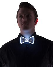 Electric Styles White Light Up Rave Festival Bow Tie