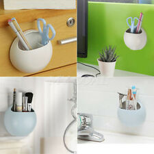 Great Suction Cups Toothbrush Toothpaste Holder Kitchen Bathroom Organizer US JB