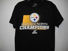 PITTSBURGH STEELERS Majestic 2014 AFC North Division Champions T-Shirt - Black