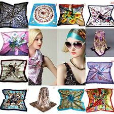 "New Women Big Square Silk-like Satin Large Scarf Wrap 35""*35"" Printing shawl"