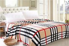 Checks Plaid Warm Soft Flannel Fleece Wrap Blanket Bed Quilt sheet