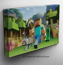 Minecraft Framed Canvas Print