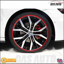 "ALLOY WHEEL RIM PROTECTORS LTD EDITION COLOURS 22"" audi ford golf trim sticker"