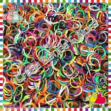 New Tie Dye RUBBER BANDs REFILL Two Tone Twist Rainbow Color fit any Loom craft