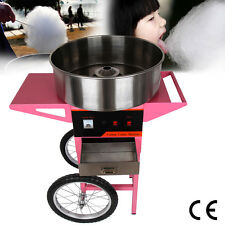 Cotton Candy Machine Fairy Floss Maker 1050W With Cart Protaction Cover PARTY