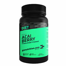 Acai Berry Antioxidant Extract 4900mg Tablets by GoNutrition - 60, 120