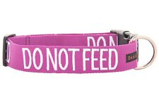 Dog Collar Purple Do Not Feed Bright Colorful Awareness Aid Pet Control Safety