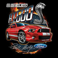 Ford Mustang Hot Rod T-Shirt Red Shelby Cobra GT 500