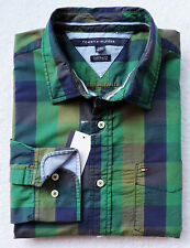 NWT TOMMY HILFIGER MEN'S CUSTOM FIT PLAID SHIRT