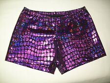 Adult Booty Shorts/Spankies ~ HOLOGRAM TILE DOTS in 8 stunning colors, gyn,dance