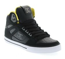 DC SHOES SKATE SPARTAN HIGH WC BLACK GREY YELLOW  MENS UK SIZES  10 & 11 RRP £75