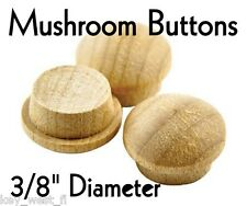 """3/8"""" inch Maple Mushroom Buttons ~ Wood Screw Plugs ~ Lot of 12 to 1000 by PLD"""