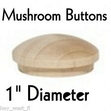 "1"" inch Maple Mushroom Buttons ~ Wood Screw Plugs ~ Lot of 12 to 100 by PLD"