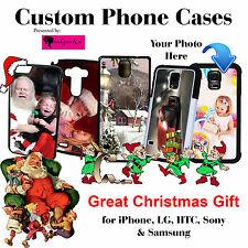 PERSONALIZED CUSTOM PHOTO PICTURE FOTO PHONE CASE FOR SAMSUNG HTC ONE IPHONE LG