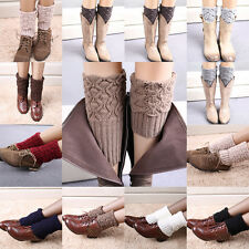 Luxury Crochet Knitted Shell Design Boot Cuffs Toppers Liner Leg Warmers Sock