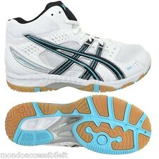SCARPE ASICS PALLAVOLO VOLLEY GEL TASK MT B353N 0140 SHOES WOMAN WHITE ICE BLUE