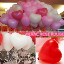 100pcs Heart-Shaped Latex Balloons Home Wedding Party Birthday Decoration
