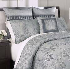 Croscill Maddox Comforter Set 7pc Blue Euro Shams Decorative Pillow 1st Quality