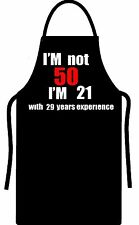 50th Birthday MENS WOMENS  Gift Present Apron funny all colours