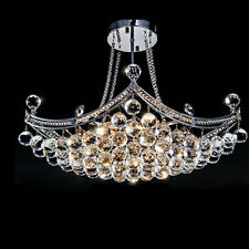 Industrial Crystal Glass Chandelier Ceiling Light Fixture Pendant Lamp Lighting