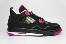 Nike Air Jordan 4 Retro 30th GG Youth Black Fuchsia Lime Purple 705344-027 5~9.5