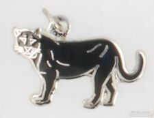 Silver-toned fancy panther fob, with leather strap options