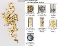 Dragon fobs, various designs & leather strap options