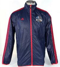 Adidas NBA All Star New Orleans 2014 Blue Zip Front Wind Track Jacket Mens NWT