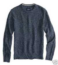 American Eagle Mens  Sweater Waffle Knit Cotton  Blue Long Sleeve L XL NEW