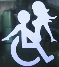 FUNNY*WHEELCHAIR SEX* HANDICAP SEX STICKER FOR Car bike boat I pad window