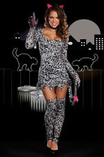Dreamgirl Cat Fight Kitty Adult Womens Sexy  Leopard Print Cougar Costume New!