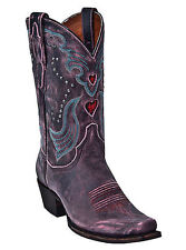 NEW DAN POST WOMENS WESTERN COWBOY BOOTS BROWN WITH SUBTLE PINK ACCENTS #DP3576