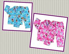 BNWT DISNEY FROZEN ELSA ANNA GIRLS WINTER PJ FLANNELETTE PYJAMAS - SIZES 2-8