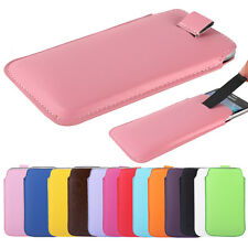 Pull Tab PU Bag Pouch Sleeve Case Cover for Apple iPhone 6 Plus Samsung Phone