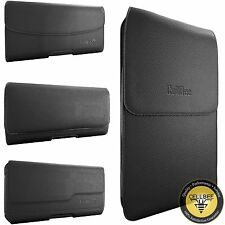 Black Premium PU Leather Holster Belt Clip Carrying Case Pouch For Galaxy Note 4