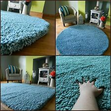 SMALL MEDIUM X LARGE DUCK EGG TEAL THICK SOFT HEAVY QUALITY SHAGGY AREA RUG MAT
