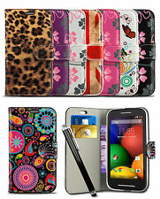 Wallet Case For Samsung Galaxy Ace 4 SM-G357FZ Mobile Phone Flip Cover & Stylus