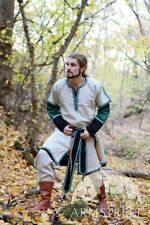 Medieval Costume ,Medieval Long Mens Tunic with Overcoat